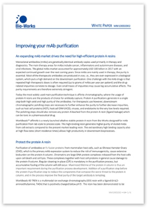 White paper mAb purification