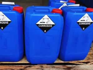 blue solvent containers square